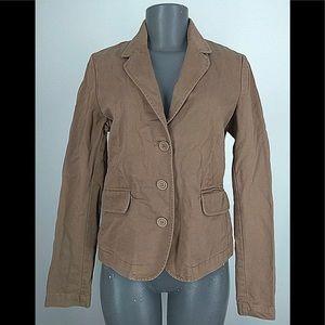 Juicy Couture Brown Denim Blazer Jacket w/ Heart